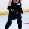 terrified new roller skater