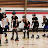 Raw Meat Roller Skaters learn roller derby drills