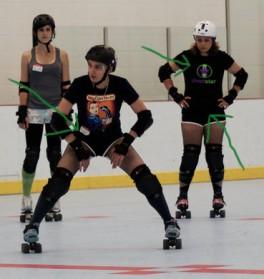 Derby girls wearing Pivot Star