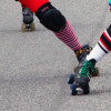 Skates work hard in a derby bout!