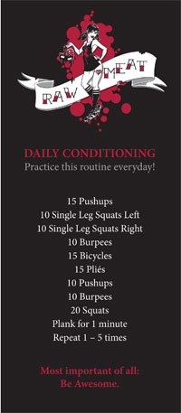 Raw Meat Roller Skating Daily Fitness