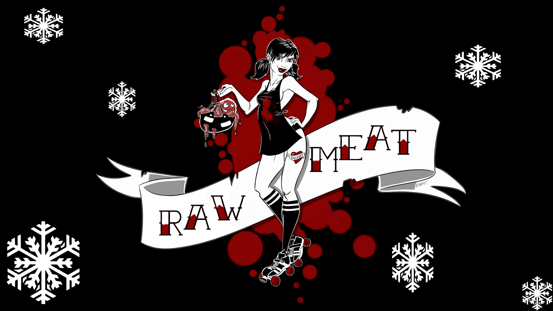 It's cold outside, but it's warm when you come skate with Raw Meat!